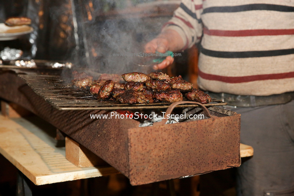 Kebab cutlets on a BBQ