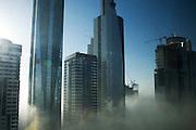 Dubai, United Arab Emirates (UAE). January 30th 2009..The Dubai morning fog.