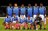 Fotball<br /> Frankrike v Ukraina U21<br /> 08.09.2009<br /> Foto: DPPI/Digitalsport<br /> NORWAY ONLY<br /> <br /> FOOTBALL - UEFA EURO 2011 UNDER 21 - QUALIFYING ROUND - GROUP 8 - FRANCE U21 v UKRAINE U21 - 8/09/2009 <br /> <br /> TEAM FRANCE ( BACK ROW LEFT TO RIGHT : CHEIK MBENGUE / PAUL BAYSSE / MAGAYE GUEYE / MAMADOU SAKHO / ANTHONY MODESTE / MOUSSA SISSOKO . FRONT ROW : BAKARY SAKO / YANN MVILA / SEBASTIEN CORCHIA / DJAMEL BAKAR / JOHNNY PLACIDE )<br /> Lagbilde Frankrike
