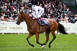 Tribute Act ridden by Jockey Adam Kirby goes to post for the Duke Of Cambridge Stakes