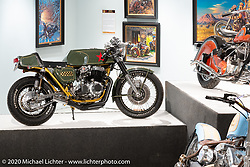 Steve Carpy Carpenter's Greenday Special Honda CB750K cafe racer in in the Heavy Mettle - Motorcycles and Art with Moxie exhibition at the Sturgis Buffalo Chip. This is the 2020 iteration of the annual Motorcycles as Art series curated and produced by Michael Lichter. Sturgis, SD, USA. Friday, August 7, 2020. Photography ©2020 Michael Lichter.