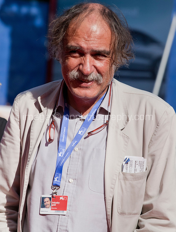 Producer Paulo Branco at the premiere of the film Les Beaux Jours d'Aranjuez (The Beautiful Days of Aranjuez) at the 73rd Venice Film Festival, Sala Grande on Thursday September 1st 2016, Venice Lido, Italy.
