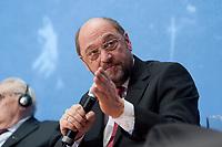 06 DEC 2010, BERLIN/GERMANY:<br /> Martin Schulz, SPD, Vorsitzender der Sozialdemokratischen Fraktion im Europaeischen Parlament, SPD Veranstaltung zu 40 Jahre Moskauer und Warschauer Vertraege, Willy-Brandt-Haus<br /> IMAGE: 20101206-01-095<br /> KEYWORDS: Ostvertraege, Ostverträge