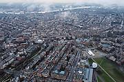Nederland, Noord-Holland, Amsterdam, 16-01-2014;<br /> Overzicht Museumplein Amsterdam met Concertgebouw( b,l), Stedelijk museum, Van Goghmuseum, en het Rijksmuseum (m,r). Van Baerlestraat linksonder naar rechtsboven. <br /> Overview  Amsterdam: bottom right Museumplein, Rijksmuseum, left the Vondelpark, top picture IJ and Amsterdam North. The ring of canales in between.<br /> luchtfoto (toeslag op standard tarieven);<br /> aerial photo (additional fee required);<br /> copyright foto/photo Siebe Swart