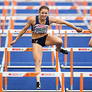 Diane Marie-Hardy competes in women decathlon (110m hurdles) during the European Championships 2018, at Olympic Stadium in Berlin, Germany, Day 3, on August 9, 2018 - Photo Philippe Millereau / KMSP / ProSportsImages / DPPI