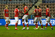 Goal 0-1 Charlton Athletic midfielder Chuks Aneke (10) scores a goal 0-1 and celebrates during the EFL Sky Bet League 1 match between Wigan Athletic and Charlton Athletic at the DW Stadium, Wigan, England on 2 March 2021.