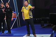 Dave Chisnall wins his fourth round match against Jamie Lewis during the World Darts Championships 2018 at Alexandra Palace, London, United Kingdom on 28 December 2018.