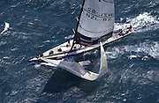 The second Genoa also parts company with the foil. Team New Zealand retire as a result of multiple failures. Race one of the America's Cup 2003.15/2/2003 (© Chris Cameron 2003)