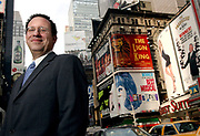 5/18/04  Photo by Mara Lavitt -- Howard Sherman<br /> ML0130D #5925<br /> Times Square, NYC:  Howard Sherman, formerly of Orange, is now the executive director of the American Theater Wing.