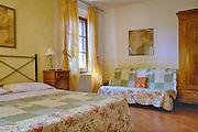 Podere Le Vigne bedroom photo shoot, Siena, Tuscany