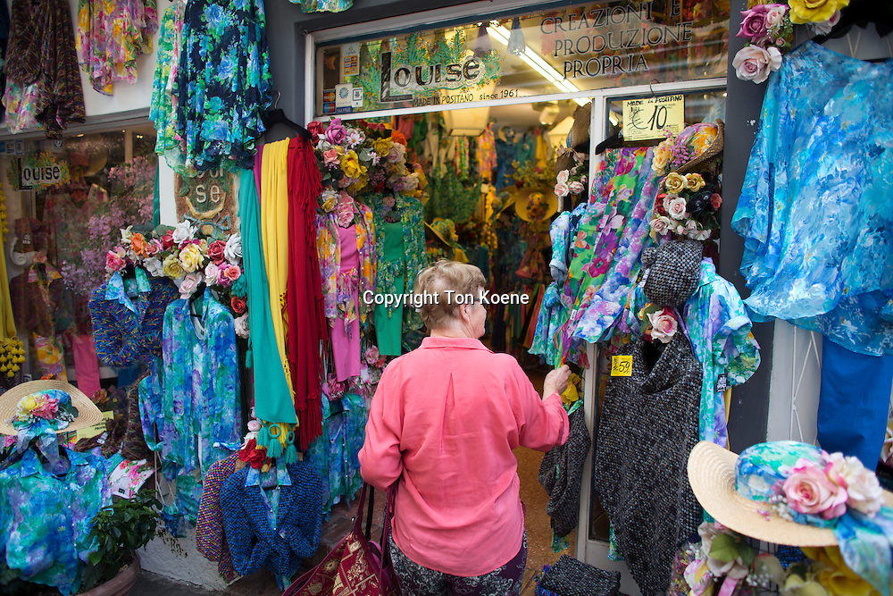 clothes shop at Procida Island, one hour boat ride from naples