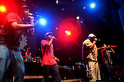 September 22, 2012- Los Angeles, CA: Freestyle Fellowship performs at the Lyricist Lounge 20th Year Reunion Party-Los Angeles held at Club Nokia at LA Live on September 22, 2012 in Los Angeles, California. The Lyricist Lounge is a hip hop showcase of rappers, emcees, DJ's, and Graffiti artists. It was founded in 1991 by hip hop aficionados Danny Castro and Anthony Marshall. It was a series of open mic events hosted in a small studio apartment in the Lower East Side section of New York City.(Terrence Jennings)