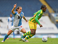 Blackburn Rovers' Lewis Travis battles with West Bromwich Albion's Romaine Sawyers<br /> <br /> Photographer Dave Howarth/CameraSport<br /> <br /> The EFL Sky Bet Championship - Blackburn Rovers v West Bromwich Albion - Saturday 11th July 2020 - Ewood Park - Blackburn <br /> <br /> World Copyright © 2020 CameraSport. All rights reserved. 43 Linden Ave. Countesthorpe. Leicester. England. LE8 5PG - Tel: +44 (0) 116 277 4147 - admin@camerasport.com - www.camerasport.com