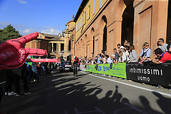 Edward Dunbar (IRL) Team Ineos starts the San Luca climb during Stage 1 of the 2019 Giro d'Italia, an individual time trial running 8km from Bologna to the Sanctuary of San Luca, Bologna, Italy. 11th May 2019.<br /> Picture: Eoin Clarke | Cyclefile<br /> <br /> All photos usage must carry mandatory copyright credit (© Cyclefile | Eoin Clarke)