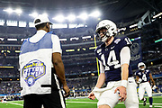 Penn State Nittany Lions quarterback Sean Clifford (14) celebrates a touchdown against the Memphis Tigers during the game of the NCAA Cotton Bowl Classic football game, Saturday, Dec. 28, 2019 at AT&T Stadium in Arlington, Texas. Penn State defeated Memphis 53-39. (Mario Terrana/Image of Sport)