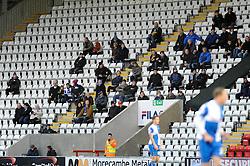 Bristol Rovers away support - Photo mandatory by-line: Dougie Allward/JMP - Tel: Mobile: 07966 386802 14/12/2013 - SPORT - Football - Morecombe - Globe Arena - Morecombe v Bristol Rovers - Sky Bet League Two