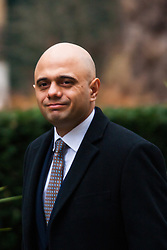 London, February 10th 2015. Ministers arrive at the weekly cabinet meeting at 10 Downing Street. PICTURED: Sajid Javid MP, Secretary of State for Culture, Media and Sport