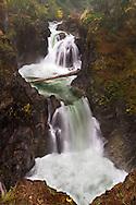 The Upper Little Qualicum Falls at Little Qualicum Falls Provincial Park in the Nanaimo Regional District, British Columbia, Canada