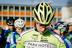 Riejanne Markus has a moment to compose herself before the start is given.