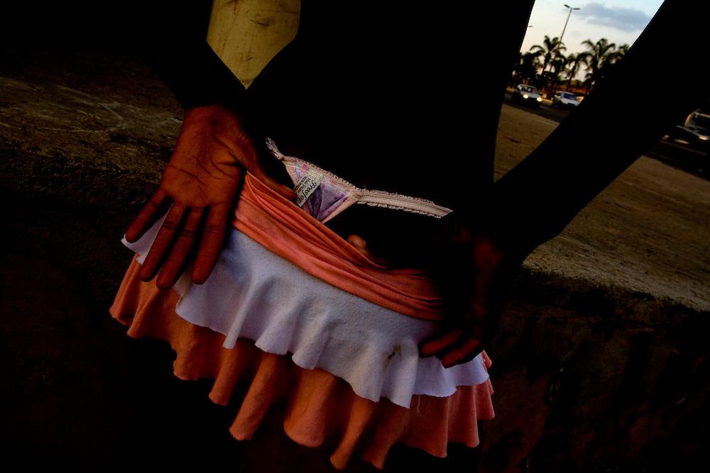 Ipatinga_MG, Brazil.<br /> <br /> Garota de programa em uma rodovia em Ipatinga, Minas Gerais. A prostituicao e comum ao longo das rodovias no Brasil.<br /> <br /> Prostitute on a highway in Ipatinga, Minas Gerais. The prostitution is common along the highways in Brazil.<br /> <br /> Foto: LEO DRUMOND / NITRO