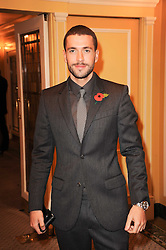 Singer SHAYNE WARD at the Fantasy Ball in aid if children's cancer charity CLIC Sargent held at The Dorchester, Park Lane, London on 11th November 2010.
