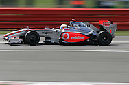 2009 Formula 1 Santander British Grand Prix at Silverstone in Northants, Great Britain. action from Friday practice on 19th June 2009. Lewis Hamilton of Great Britain drives his McLaren Mercedes F1 car...