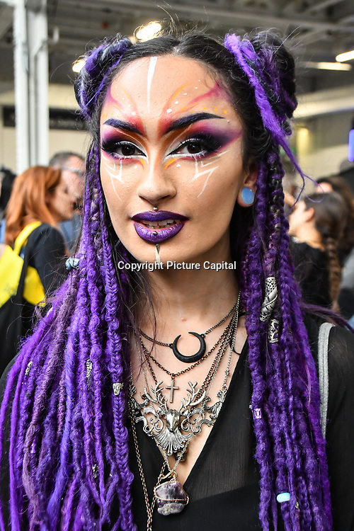 Gigi Myra Diana is a Fantastical Makeup Artistry attend IMATS London on 18 May 2019,  London, UK.