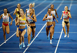 Great Britain's Adelle Tarcey (right) in action in the Women's 800m Final during day four of the 2018 European Athletics Championships at the Olympic Stadium, Berlin.