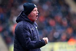 Falkirk's manager Peter Houston. Falkirk 3 v 0 Dundee United, Scottish Championship game played 11/2/2017 at The Falkirk Stadium.