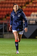 Daina Bourma (#3) of Rangers Women FC during the Scottish Building Society Womens Premier League match between Glasgow City Women and Rangers Women at Broadwood Stadium, Glasgow, Scotland on 13 December 2020.