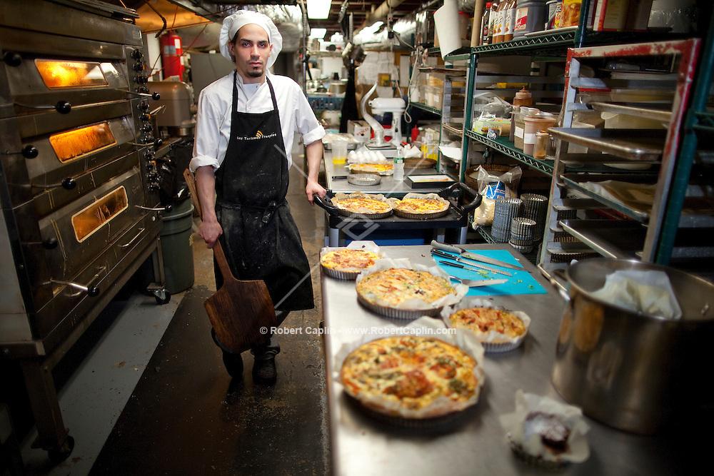 Baker Ernesto Bolta of Les Tartes de Francoise in New York. ..Photo by Robert Caplin.