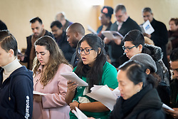 8 December 2019, Madrid, Spain: Christians from around the globe gather with local congregants in the Iglesia de Jesús in central Madrid, to celebrate an ecumenical prayer service during COP25.