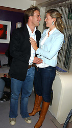 BEN FOGLE and MARINA HUNT at a party to celebrate Ben Fogle and James Cracknell's forthcoming rowing challenge across the atlantic held at Mint, Sloane Strete, London on 17th November 2005.<br /><br />NON EXCLUSIVE - WORLD RIGHTS
