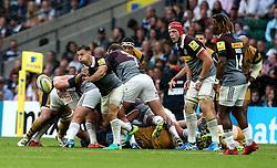 Danny Care of Harlequins passes the ball - Mandatory by-line: Robbie Stephenson/JMP - 03/09/2016 - RUGBY - Twickenham - London, England - Harlequins v Bristol Rugby - Aviva Premiership London Double Header