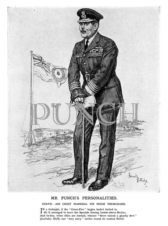 Mr Punch's Personalities. XXXVII. - Air Chief Marshall Sir Hugh Trenchard.