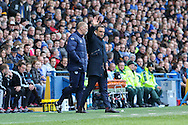 Sheffield Wednesday head coach Carlos Carvalhal during the Sky Bet Championship match between Sheffield Wednesday and Cardiff City at Hillsborough, Sheffield, England on 30 April 2016. Photo by Ellie Hoad.