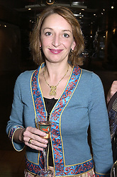 MISS MELANIE CABLE-ALEXANDER, friend of the Earl of Snowdon, at a reception in London on 27th September 2000.OHK 32