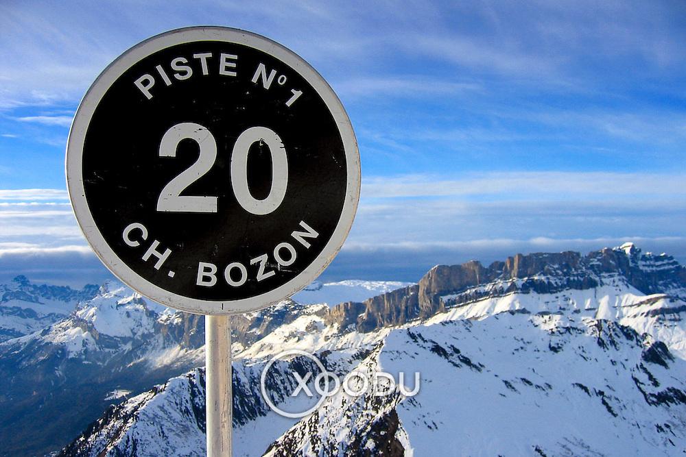 Black run starts here, Chamonix, France (January 2005)