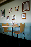 The interior of a transport cafe on the 12th April 2011 near Gloucester in the United Kingdom.