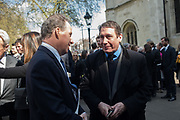 DAVID LINLEY, THE EARL OF SNOWDON; JOOLS HOLLAND, Service of thanksgiving for  Lord Snowdon, St. Margaret's Westminster. London. 7 April 2017