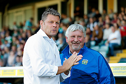 Bristol City Manager Steve Cotterill chats to Yeovil Town Manager Paul Sturrock - Mandatory byline: Rogan Thomson/JMP - 07966 386802 - 30/07/2015 - FOOTBALL - Huish Park Stadium - Yeovil, England - Yeovil Town v Bristol City - Pre Season Friendly.
