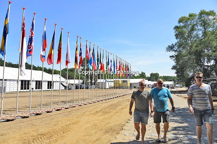 Nederland, Nijmegen, Malden, 17-7-7-2017Militair kamp Heumensoord tijdens de vierdaagse. Hier verblijven 7000 soldaten uit verschillende landenFoto: Flip Franssen