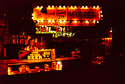 Bar at night with neon lights in French Quarter, New Orleans, Louisiana, USA 1989