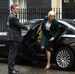 © Licensed to London News Pictures. 21/09/2015. Westminster, UK. British home secretary THERESA MAY on Downing Street on September 21, 2015.  Photo credit: Ben Cawthra/LNP