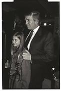 Donald Trump, Ivanka Trump, Harley Davidson Cafe opening. Manhattan. 1993.