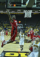 January 26, 2012: Nebraska Cornhuskers guard Caleb Walker (25) dunks the ball during the NCAA basketball game between the Nebraska Cornhuskers and the Iowa Hawkeyes at Carver-Hawkeye Arena in Iowa City, Iowa on Thursday, January 26, 2012.
