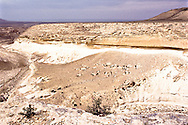 Kapat Sai, or Chalk Canyon, in the Manghstau region on the Caspian Sea is a rich archeological site for flint tools.