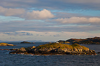 Paisaje de East Loch Tarbert Landscape. Harris Island. Outer Hebrides. Scotland, UK