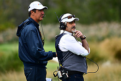 September 30, 2017 - Jersey City, New Jersey, U.S - Golf Channel commentator David Feherty looks on during Saturday matches of the Presidents Cup at Liberty National Golf Club in Jersey City, NJ  (Credit Image: © Brian Ciancio via ZUMA Wire)