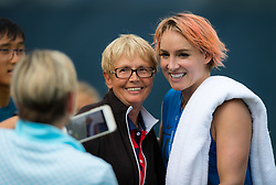 August 11, 2018 - Bethanie Mattek-Sands of the United States during practice at the 2018 Western & Southern Open WTA Premier 5 tennis tournament. Cincinnati, USA, August 11, 2018 (Credit Image: © AFP7 via ZUMA Wire)
